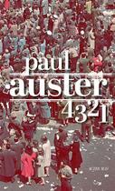 Couverture du livre « 4 3 2 1 » de Paul Auster aux éditions Actes Sud