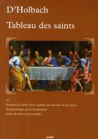 Couverture du livre « Tableau des Saints » de D'Holbach aux éditions Coda