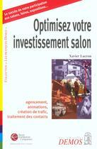 Couverture du livre « Optimiser Votre Investissement Salon » de Lucron X aux éditions Demos