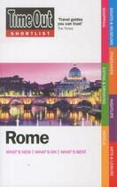 Couverture du livre « ROME: 2012 » de  aux éditions Time Out