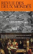 Couverture du livre « REVUE DES DEUX MONDES ; l'avenir du papier » de Revue Des Deux Mondes aux éditions Revue Des Deux Mondes