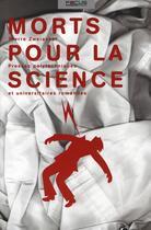 Couverture du livre « Morts pour la science » de Zweiacker Pierr aux éditions Ppur