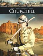 Couverture du livre « Churchill T.1 » de Francois Kersaudy et Christophe Regnault et Vincent Delmas et Alessio Camardella aux éditions Glenat