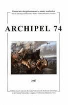 Couverture du livre « CAHIERS D'ARCHIPEL N.74 » de Cahiers D'Archipel aux éditions Maison Des Sciences De L'homme