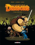 Couverture du livre « Chasseurs de dragons t.2 ; copains comme zombies » de Lechuga et Lorien et Mathieu Venant aux éditions Delcourt