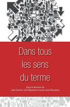 Couverture du livre « Dans tous les sens du terme » de Collectif aux éditions Les Presses De L'universite D'ottawa
