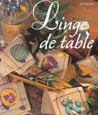 Couverture du livre « Linge De Table » de Julie Muchir aux éditions Le Temps Apprivoise