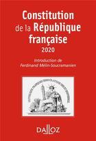Couverture du livre « Constitution de la République française (édition 2020) » de Ferdinand Melin-Soucramanien aux éditions Dalloz