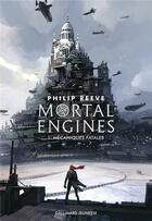 Couverture du livre « Mortal engines t.1 ; mécaniques fatales » de Philip Reeve aux éditions Gallimard-jeunesse