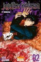Couverture du livre « Jujutsu Kaisen T.2 ; malédiction » de Gege Akutami aux éditions Ki-oon