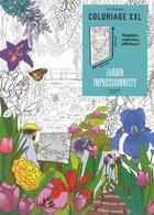 Couverture du livre « Coloriage XXL ; jardin impressionniste » de Julie Terrazzoni aux éditions Hachette Pratique