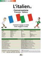 Couverture du livre « L'italien t.2 ; la conversation » de Collectif aux éditions Aedis
