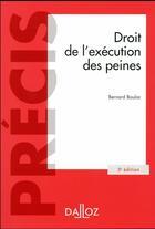 Couverture du livre « Droit de l'exécution des peines (5e édition) » de Bernard Bouloc aux éditions Dalloz