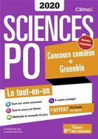 Couverture du livre « Sciences po ; concours commun + Bordeaux + Grenoble ; le tout-en-un (édition 2020) » de Collectif et Laurent Berthet aux éditions Vuibert