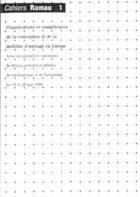 Couverture du livre « Cahiers Ramau 1 » de Collectif aux éditions La Villette