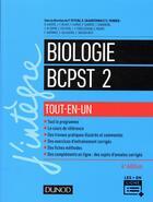 Couverture du livre « Biologie tout-en-un BCPST 2e année (4e édition) » de Collectif aux éditions Dunod