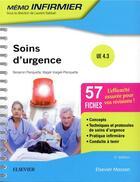 Couverture du livre « Soins d'urgence ; UE 4.3 » de Benjamin Planquette et Geraldine Voegeli aux éditions Elsevier-masson