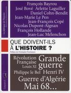 Couverture du livre « Que doivent-ils à l'histoire ? » de Collectif aux éditions Complexe