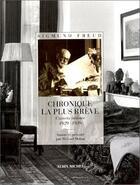 Couverture du livre « Chronique la plus brève ; carnets intimes, 1929-1939 » de Sigmund Freud aux éditions Albin Michel