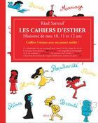 Couverture du livre « Les cahiers d'Esther ; COFFRET T.1 A T.3 ; histoires de mes 10, 11 et 12 ans » de Riad Sattouf aux éditions Allary