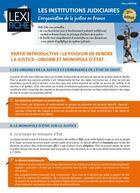 Couverture du livre « Les institutions judiciaires ; l'organisation de la justice en France (2e édition) » de Tatiana Vassine aux éditions Enrick B.