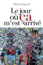 Couverture du livre « Le jour ou ça m'est arrivé » de Martine Legrand aux éditions Carnets Nord