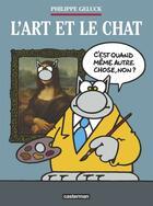 Couverture du livre « L'art et le chat » de Philippe Geluck aux éditions Casterman
