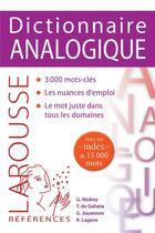 Couverture du livre « Dictionnaire analogique » de Collectif et Rene Lagane aux éditions Larousse