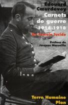 Couverture du livre « Carnets de guerre ; 1914-1918 » de Edouard Coeurdevey aux éditions Plon