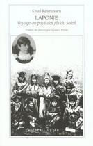 Couverture du livre « Laponie ; voyage au pays des fils du soleil » de Knud Rasmussen aux éditions Esprit Ouvert