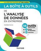 Couverture du livre « La boîte à outils ; de l'analyse de données en entreprise » de Clotilde Coron aux éditions Dunod