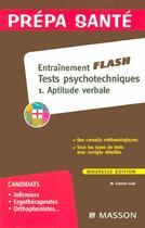 Couverture du livre « Entrainement Tests Psychotechniques T.1 ; Aptitude Verbale » de Collectif aux éditions Elsevier-masson
