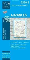 Couverture du livre « Auzances » de Collectif Ign aux éditions Ign