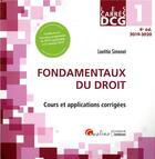 Couverture du livre « Dcg1 - fondamentaux du droit - cours et applications corrigees » de Laetitia Simonet aux éditions Gualino