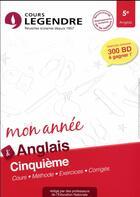 Couverture du livre « Cours legendre anglais cinquieme mon annee » de Robert Martin aux éditions Edicole