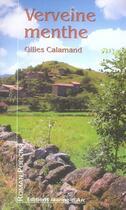 Couverture du livre « Verveine menthe » de Gilles Calamand aux éditions Jeanne D'arc