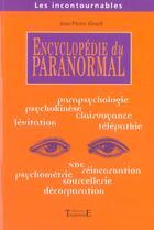 Couverture du livre « Encyclopedie du paranormal » de Jean-Pierre Girard aux éditions Trajectoire