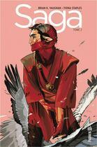 Couverture du livre « Saga T.2 » de Fiona Staples et Brian K. Vaughan aux éditions Urban Comics