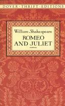 Couverture du livre « Romeo and Juliet » de William Shakespeare aux éditions Dover