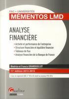 Couverture du livre « Analyse financière » de Beatrice Grandguillot et Francis Grandguillot aux éditions Gualino