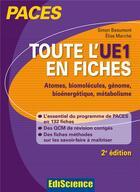 Couverture du livre « Paces ; toute l'ue1 en fiches (2e édition) » de Elise Marche et Simon Beaumont aux éditions Ediscience