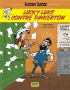 Couverture du livre « Les nouvelles aventures de Lucky Luke t.4 ; Lucky Luke contre Pinkerton » de Tonino Benacquista et Daniel Pennac et Achde aux éditions Lucky Comics