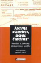 Couverture du livre « Archives