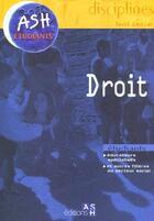 Couverture du livre « Droit » de David Gautier aux éditions Ash