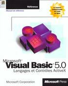 Couverture du livre « Manuel De Reference Visual Basic 5.0 » de Microsoft Corporation aux éditions O Reilly & Ass