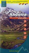 Couverture du livre « Andorra ; carte et guide de randonnées ; mapa-guia excursionista » de Collectif aux éditions Alpina