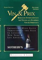 Couverture du livre « Vin et prix vente aux enchères des vins » de Blattel et Stainless aux éditions Maisonneuve Larose