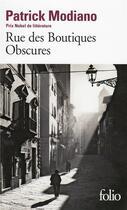 Couverture du livre « Rue des boutiques obscures » de Patrick Modiano aux éditions Gallimard