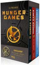 Couverture du livre « Hunger games ; COFFRET T.1 A T.3 » de Suzanne Collins aux éditions Pocket Jeunesse
