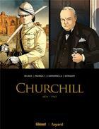 Couverture du livre « Churchill ; COFFRET T.1 ET T.2 ; 1874-1965 » de Francois Kersaudy et Christophe Regnault et Vincent Delmas et Alessio Cammardella aux éditions Glenat